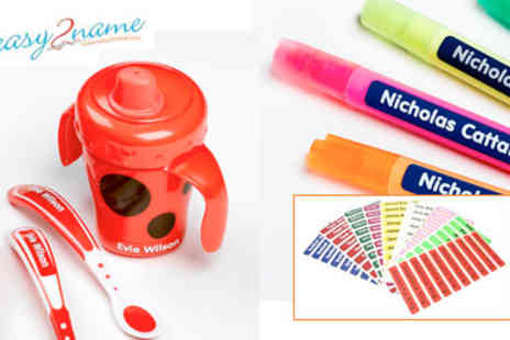 Easy 2 Name - Stick On Labels A Back To School Must Have - Save 36%