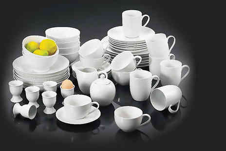 Dinner Warehouse - White 50 piece dinner set - Save 63%