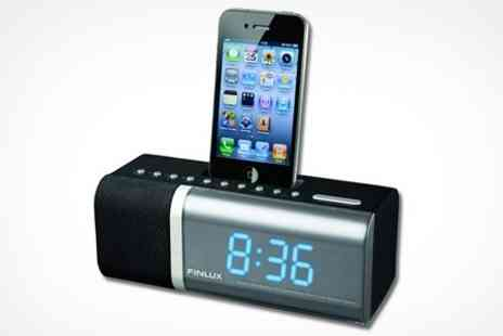 FINLUX - Alarm Clock Radio With iPod or iPhone Dock - Save 33%