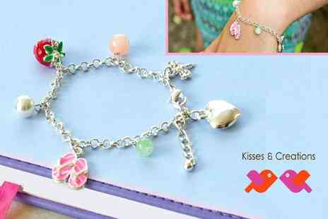 Kisses and Creations - The perfect gift for budding fashionistas  beautiful silver charm bracelet - Save 50%