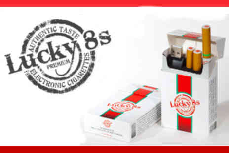 Lucky 8s Electronic Cigarettes - Lucky 8s Electronic Cigarette Starter Kit - Save 36%