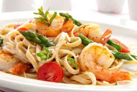 House Chester - Pasta or Salad With Wine For Two - Save 53%