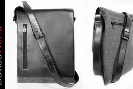 Device World - Mens Designer Faux Leather Messenger Bag - Save 31%