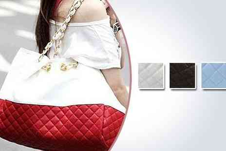 ePacificMall - Stylish chain link quilted handbag in red - Save 50%