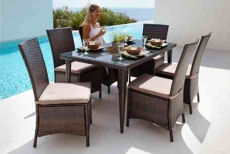 Rigwell - Six Seat Rattan Dining Set - Save 65%