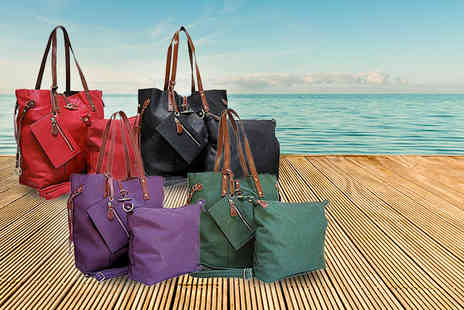 A SHU co uk - Four piece tote bag set in a choice of 3 style - Save 57%
