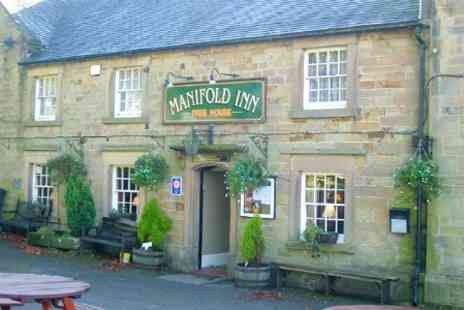 The Manifold Inn Hotel - In Peak District One Night Stay For Two With Dinner and Breakfast - Save 65%