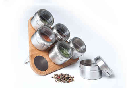 Home wareltd - Magnetic Herb and Spice Rack - Save 55%