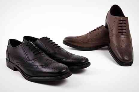 Shoe Primo - Mens Leather Brogue Shoes - Save 75%