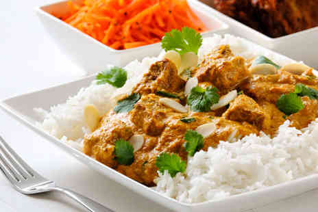 Tandoori Garden - Starter Main Course and Glass with Rice and Naan to Share for Two - Save 56%
