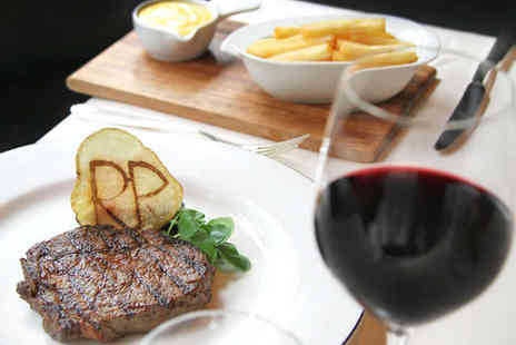 The Rib Room Bar - Steak Meal with Glass of Wine for One for Lunch - Save 53%