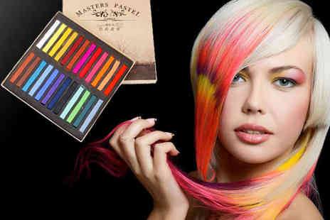 Roolyn - Set of 24 Hair Chalks - Save 80%