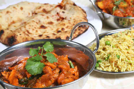 Bengal Brasserie - Two Main Courses with Rice Side and Naan to Share with Two Glasses of Wine - Save 53%