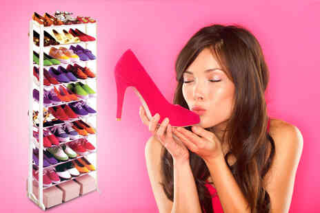 Wowcher Fancy - 10 tier shoe rack - Save 50%