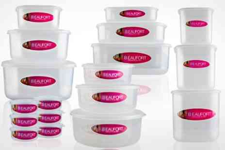 ebeez.co.uk - 13 or 19 Piece Beaufort Food Container Set - Save 50%