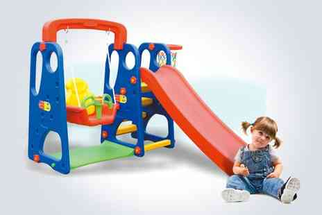 Deao Toys - Childs playset with swing slide and basketball hoop - Save 34%