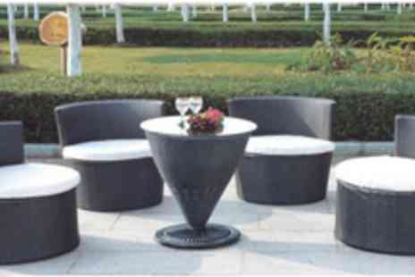 Rattan Garden Furniture - Torpedo Garden Furniture Set with 4 chairs & a table - Save 73%
