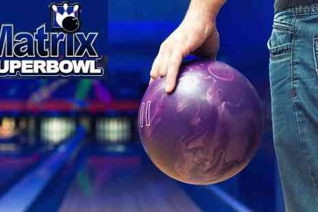 Matrix Superbowl - Ten Pin Bowling with Food for Six in Skipton - Save 79%