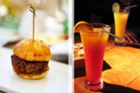 Jerusalem Bar & Kitchen - Tray of sliders to share and a cocktail each for two people - Save 55%
