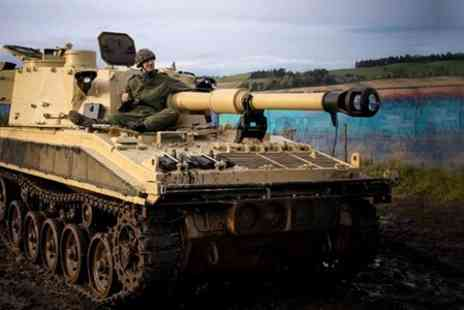 Tank Driving Scotland - Tank Ride and Paintballing For Two - Save 76%