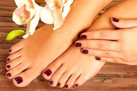 Shabby to Chic - Shellac Manicure or Pedicure - Save 55%