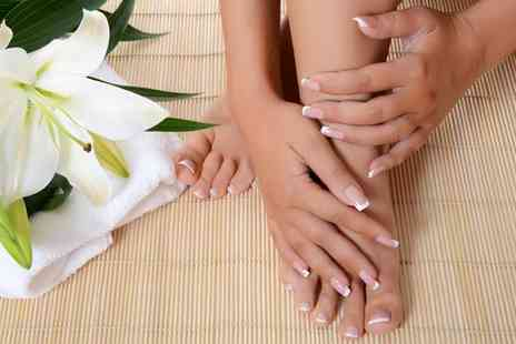 Glowing Salon Hair - Manicure and Pedicure - Save 27%