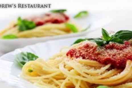 St Andrews Restaurant - Two Courses of Italian Fare With Wine For Four - Save 63%