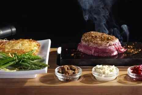 Rangos - Hot Stone Steak Meal For Two With Sides and Wine - Save 65%