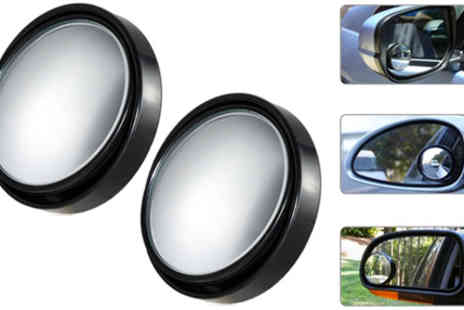 RedHotDealz - Pair of Blind Spot Mirrors - Save 67%