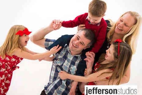 Jefferson Studios - Hour Long Family Friends or Individual Photo Shoot with Ten Prints - Save 95%
