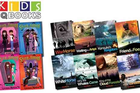 KidsIQ - 2 Fantastic Book Collections For Children Michael Morpurgo Collection of 8 Books And My Sister The Vampire Box Set Of 4 Books - Save 50%
