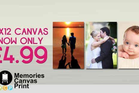 Memories Canvas Print - 12 inch Canvas Created from a favourite photograph - Save 83%