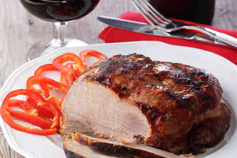 3 Amigos Tapas Bar and Grill - Mediterranean Hog Roast for Two with Mixed Vegetables - Save 54%