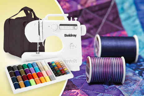 Up Global Sourcing - Beldray 12 stitch sewing machine with a range of accessories - Save 51%