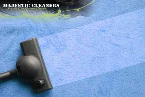 Majestic Cleaners - Carpet Cleaning for 2 Rooms - Save 72%