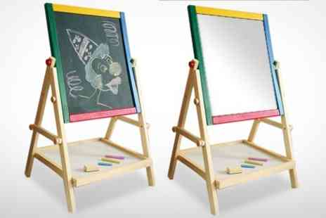 ebeez.co.uk - 2 in 1 Wooden Blackboard and Whiteboard Easel - Save 58%