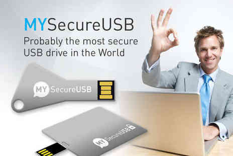 MYSecurityCenter - 16GB MYSecure USB Key with Password Protection and Data Encryption - Save 85%