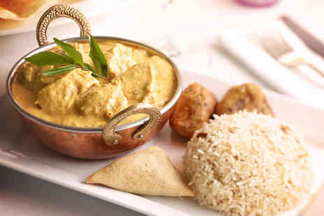 Tandoori Garden - Indian meal for 2 inc starter main side and dessert - Save 74%