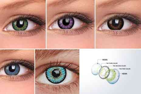 Polarmentor - Two pairs of 12 month Magic colour contact lenses - Save 50%