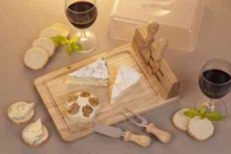 Edco - Cheese board with four knives, a stand and a cover - Save 37%