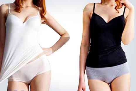 EachBuyer - Medium black padded camisole and medium white padded camisole - Save 50%