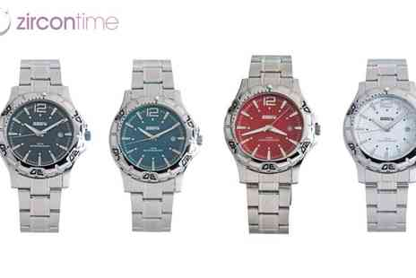 Zircontime - Mens Stainless Steel Sabre Sports Watch - Save 67%