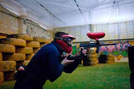 Urban Paintball - Indoor paintballing for four people with equipment hire and 100 balls per person - Save 95%