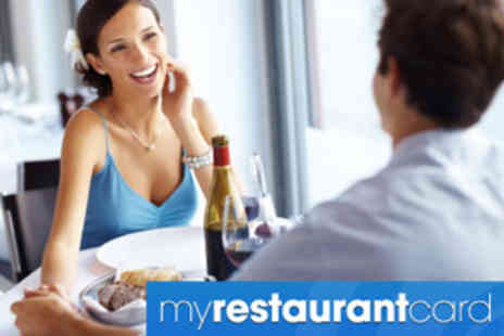 My Restaurant Card - £5 for 12 month discount card worth £25 - Save 80%