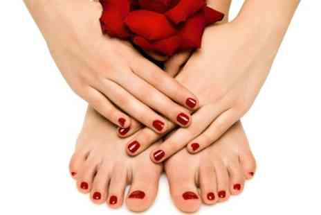 Color Beauty Salon - Bio Sculpture Gel Polish Manicure or Pedicure - Save 52%