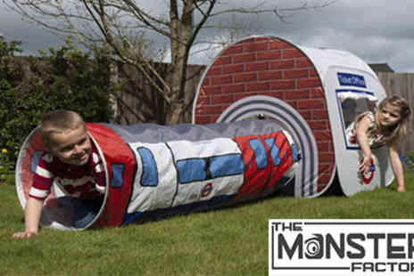The Monster Factory - Tube train tent London Underground Play Tent For Kids - Save 27%