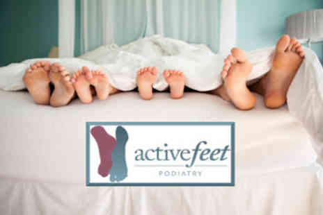 Activefeet - Podiatry treatment and luxury moisturising treatment - Save 50%