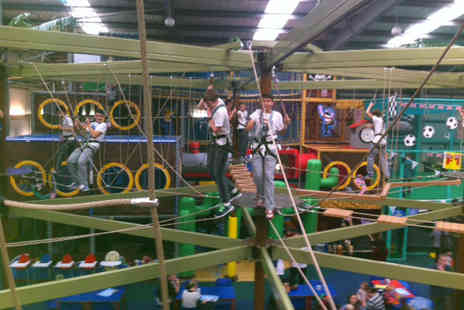 Mister Twisters - One visit for 4 people to the UKs only indoor high ropes centre - Save 71%