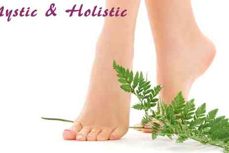 Mystic & Holistic - Foot Scrub Pedicure and Massage for One - Save 81%