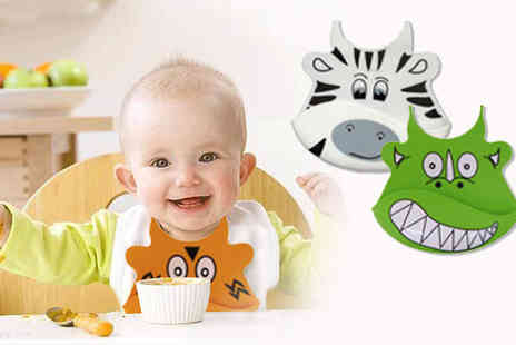 UKCJS - Clothes perfectly clean mess free fun and creative with these Baby Animal Bibs - Save 70%